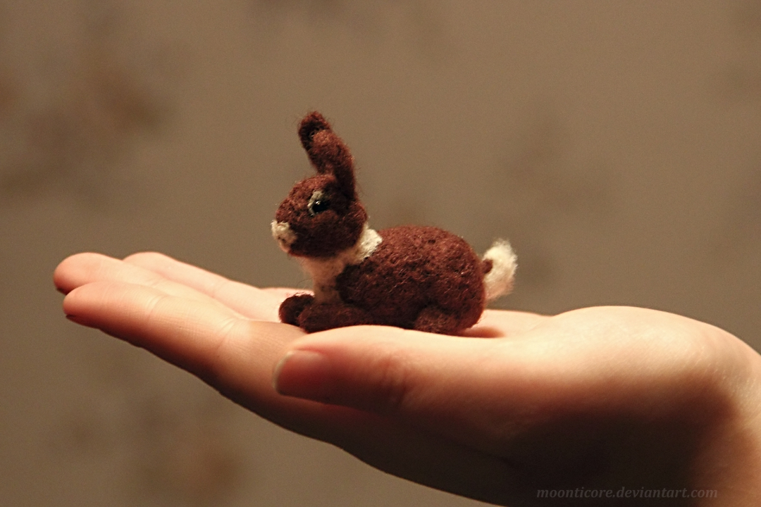 Felting - Rabbit. by Moonticore