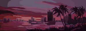 80's Sunset panorama