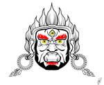 Mahakala, The Great Black One (vectorized)