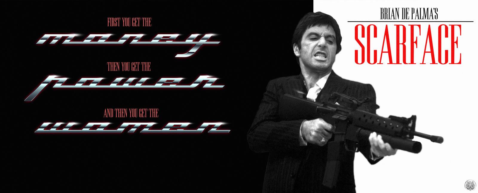 Scarface - Money, Power, Women    (Faux Poster)