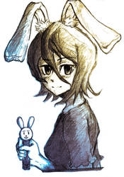 Rukia Rabbit Pez by smashingtofu