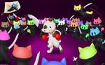 Milkshakes the Dog vs the Ninja Cat Hoarde