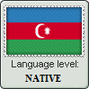 Language Level Azerbaijan Flag - Native by KazehayaSenpai
