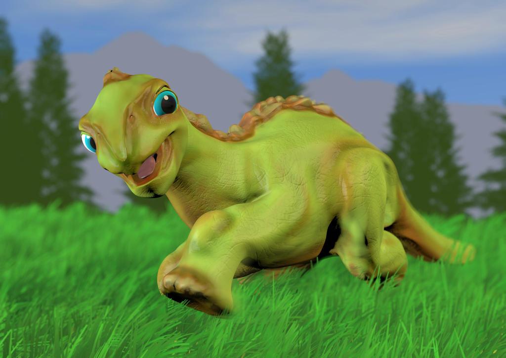 Frolicosaurus by Natnie