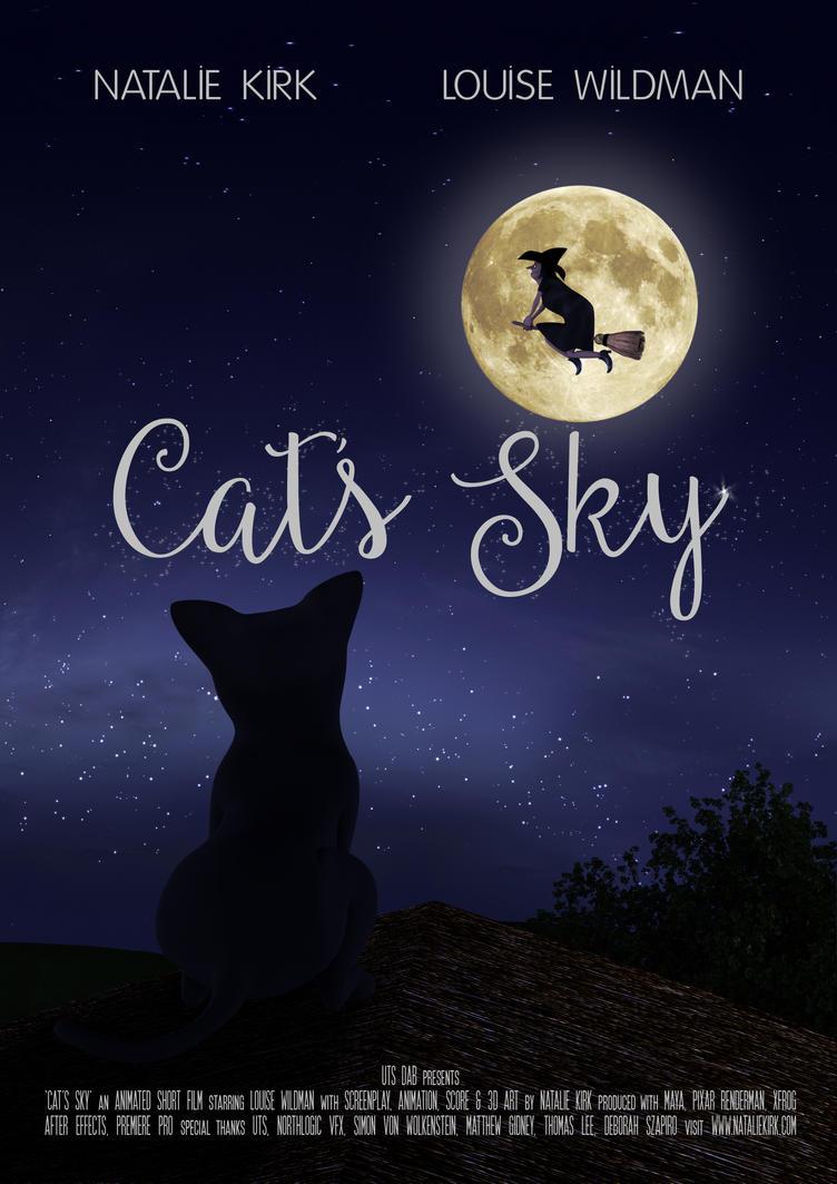 Cat's Sky Movie Poster by Natnie