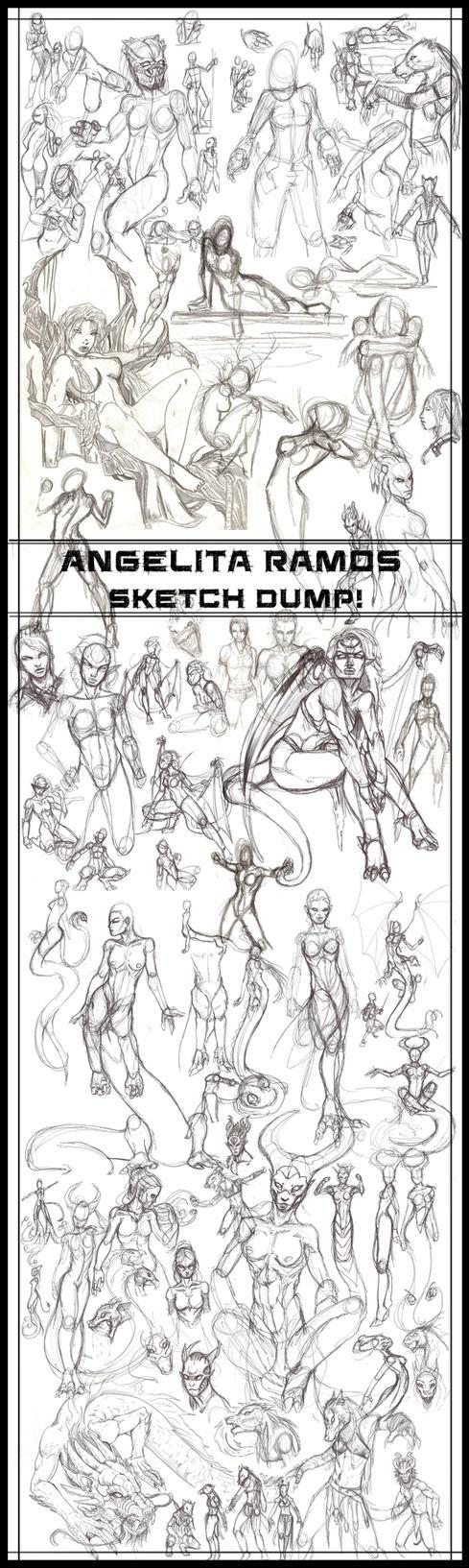 2015 Sketch Dump by AngelitaRamos