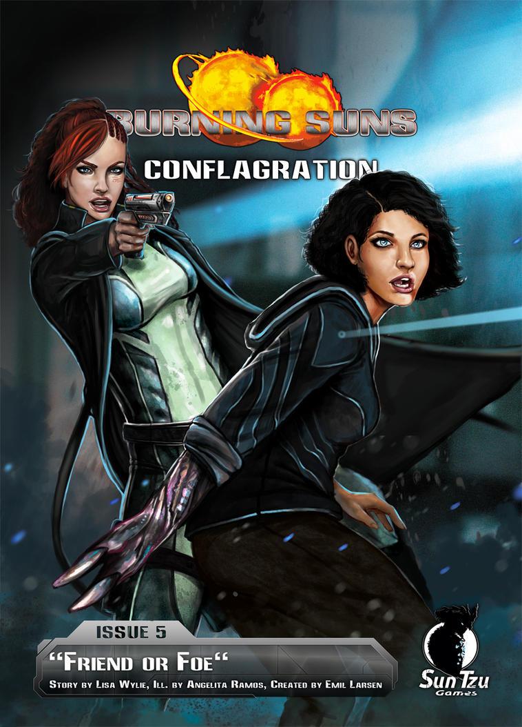 Burning Suns - Conflagration Novel by AngelitaRamos