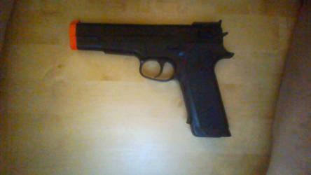 JIEKE P365 Spring powered Airsoft Pistol.