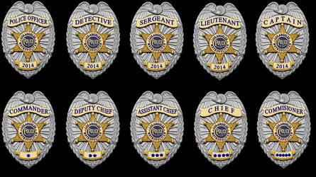 Coreline LAPD Metropolitan Police Badges