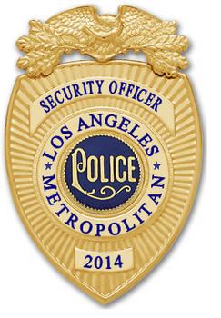 Coreline LAPD Security Badge