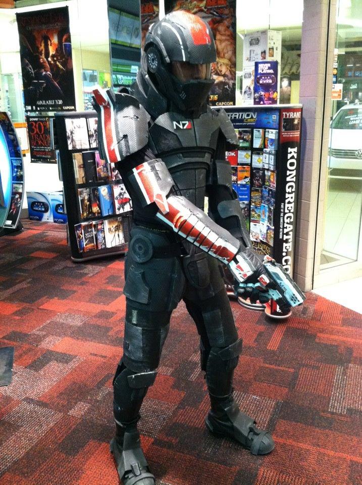 Shepard with helmet by AFXtuming