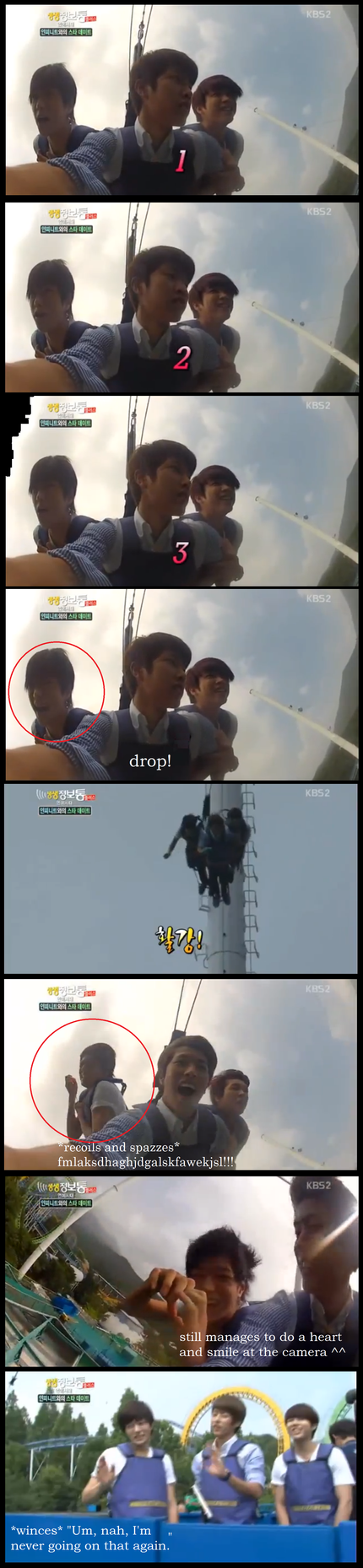 L/Myungsoo On A Bungee Jump Ride