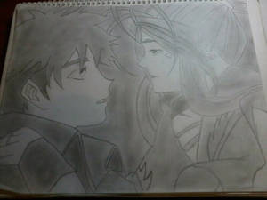 Belldandy y Keichi Kiss