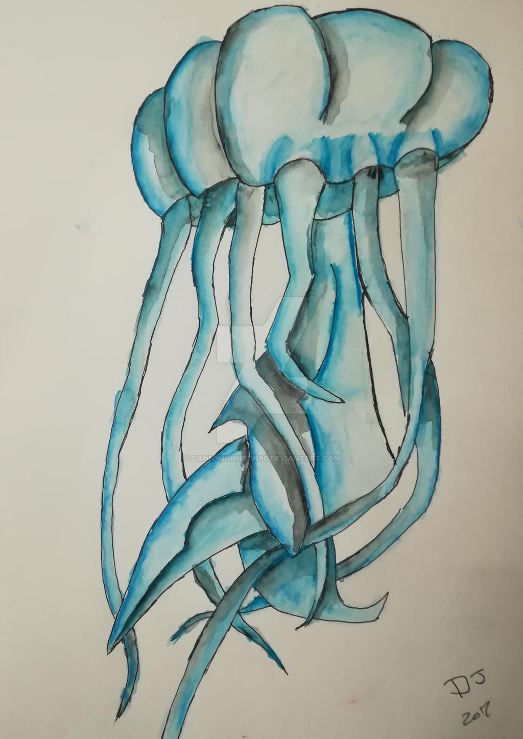 Jellyfish watercolour pencil sketch by dannyjohnson90 jellyfish watercolour pencil sketch by dannyjohnson90