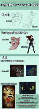 Commission Prices MOVED ACCOUNTS