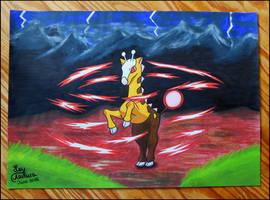 Don't mess with Girafarig [Fan Art] by LeyAsakura