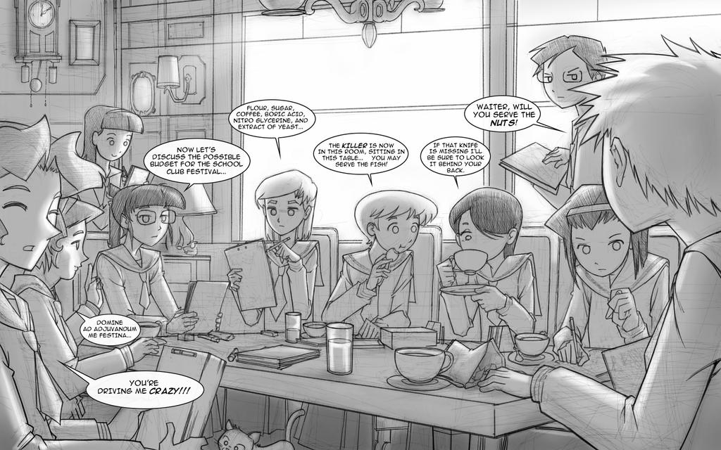 Snacks by the Boardroom by inisipis