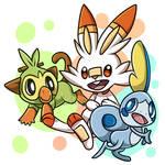 [Fanart] Pokemon Sword and Shield starters