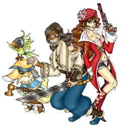 Raz, Rikken and Elza by SandyLeDandy