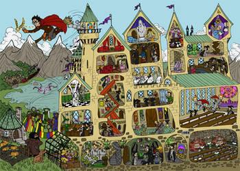 Hogwarts by SandyLeDandy