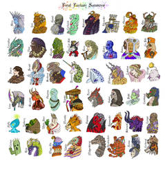 Final Fantasy Summons by SandyLeDandy