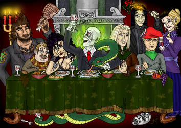 Death Eaters' Christmas Supper by SandyLeDandy