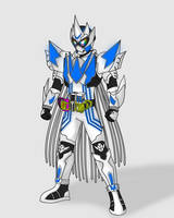 COMMISSION: Kamen Rider Edon Ultima Victory Gamer by RamenDriver