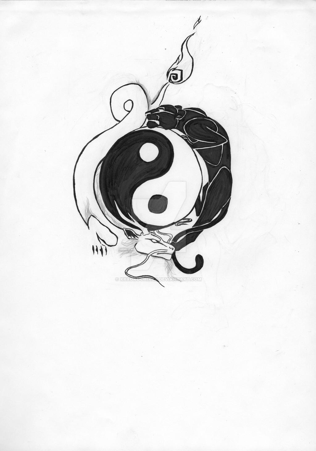 jin jang tattoo by xxxorochixxx on deviantart