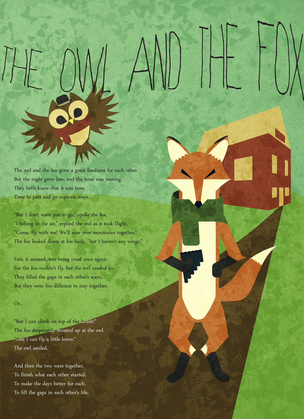 The Owl and the Fox by tragicallyhipster