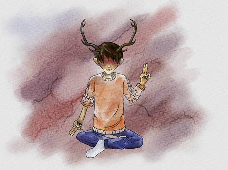 Boy with Antlers