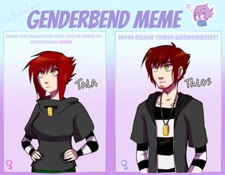 Genderbend Meme: Tala by TalaSeba