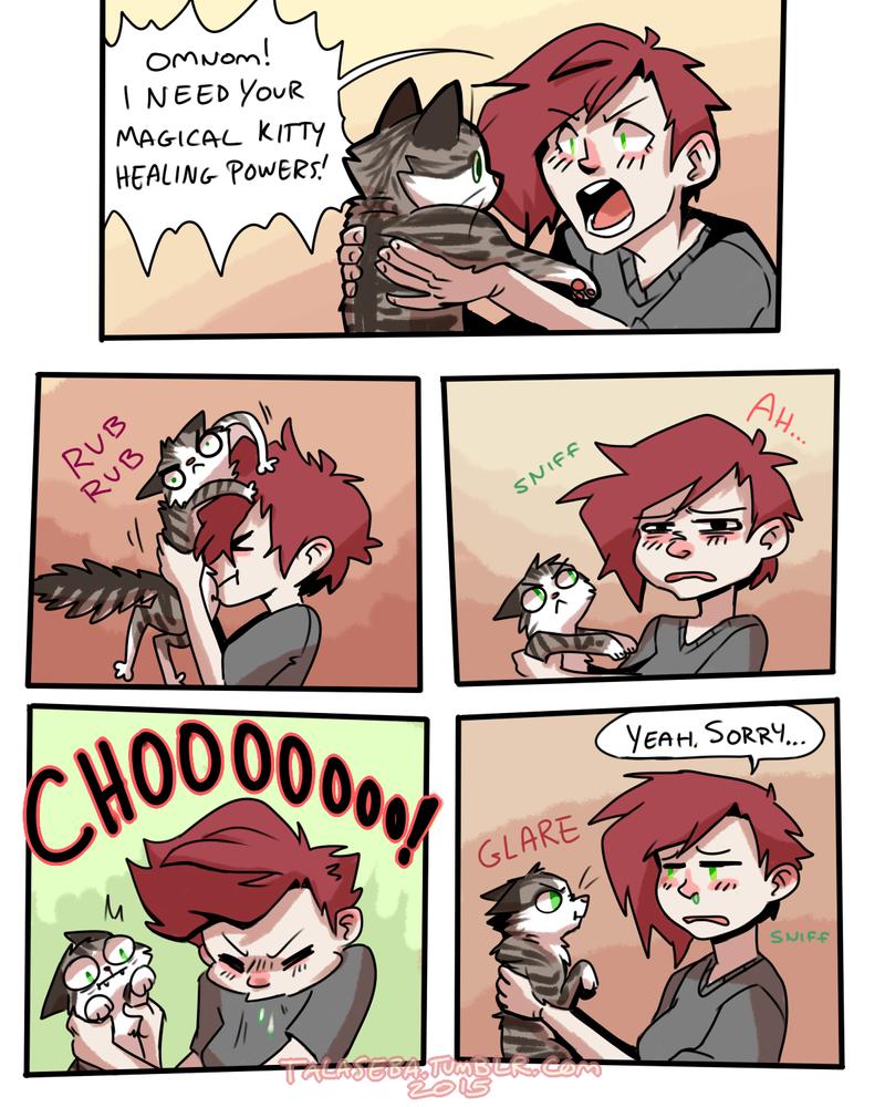 Magical Kitty Healing Powers by TalaSeba