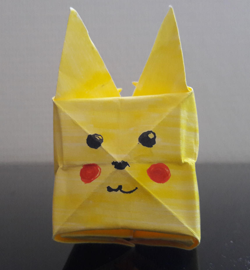 My First Origami Origami Pikachu By Cherry Draws On Deviantart