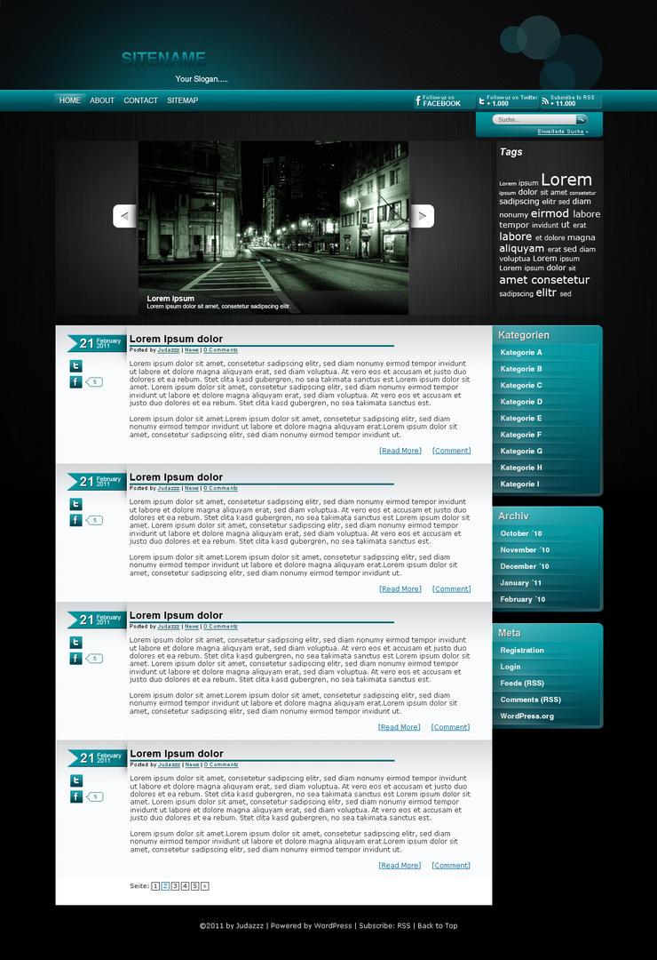 Aqua Blog Design By Judazzz On DeviantArt