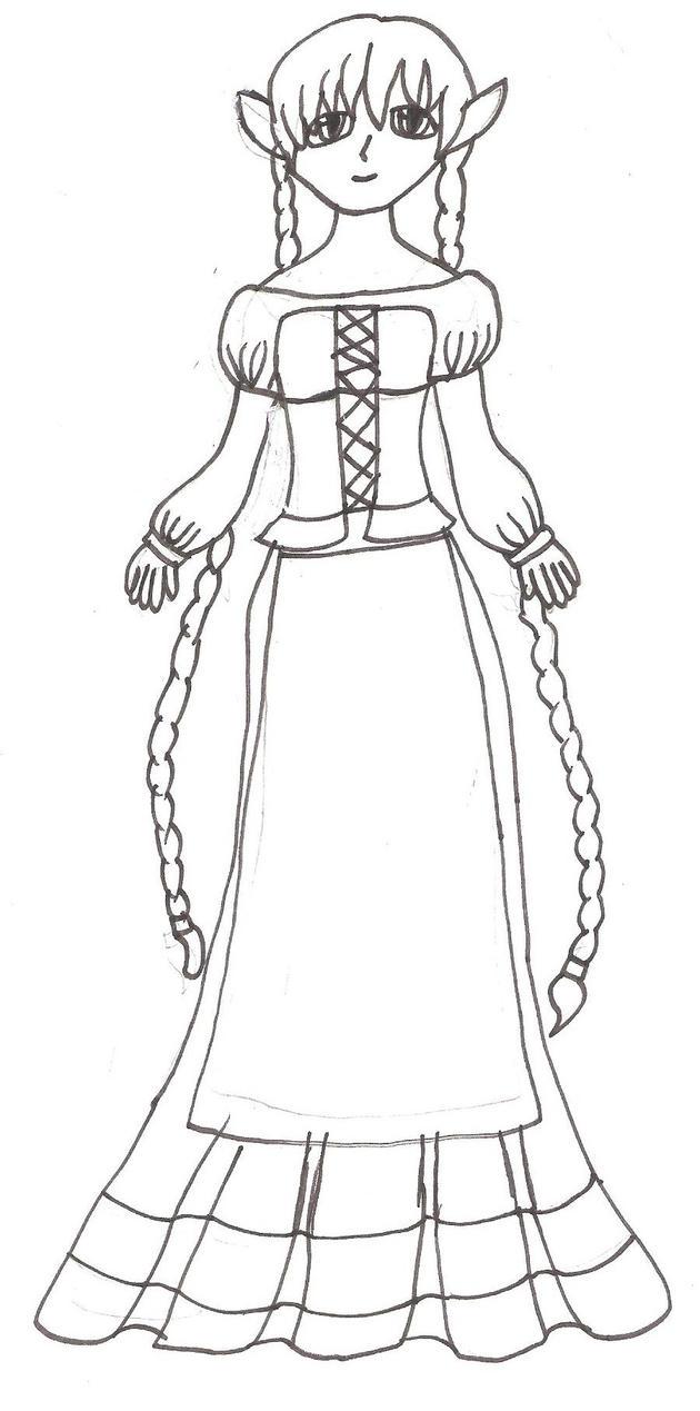 OC Diana's slave dress redesign 30.NOV.2014 by SHANNON-CASSUL-LOVER