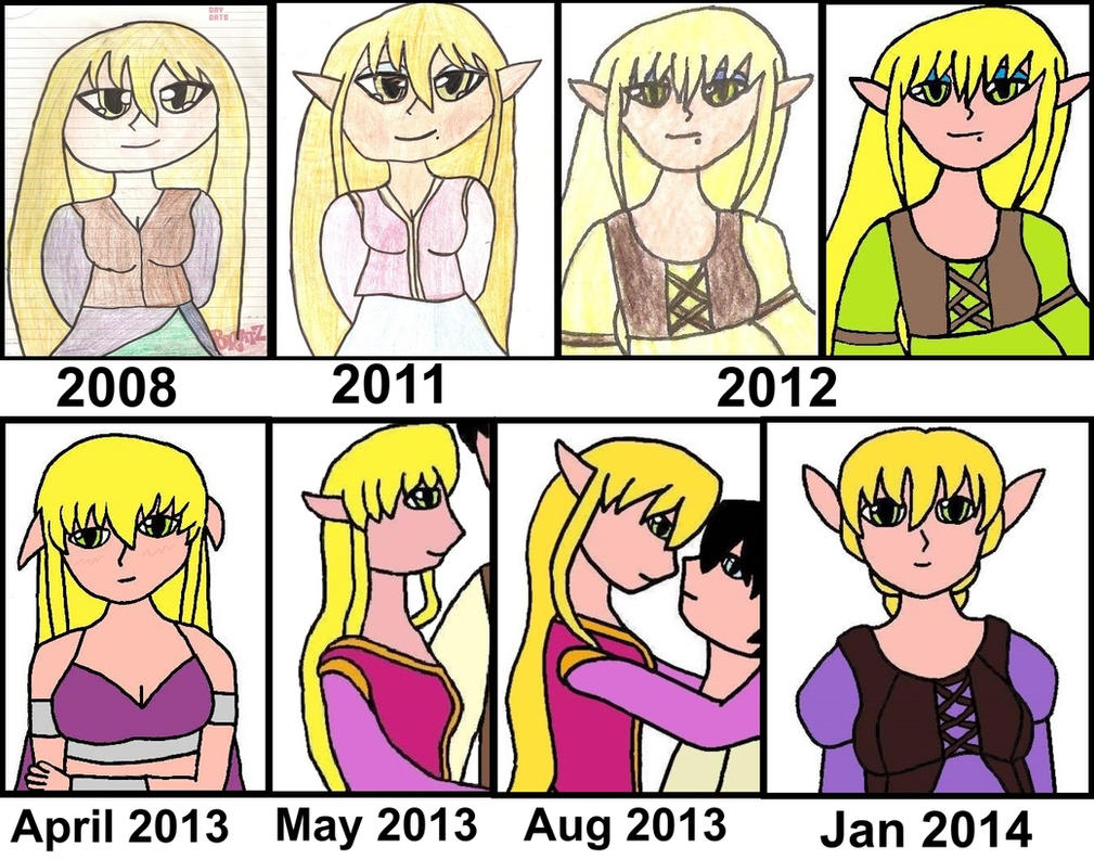 Evolution of  my Favourite O.C, Diana by SHANNON-CASSUL-LOVER