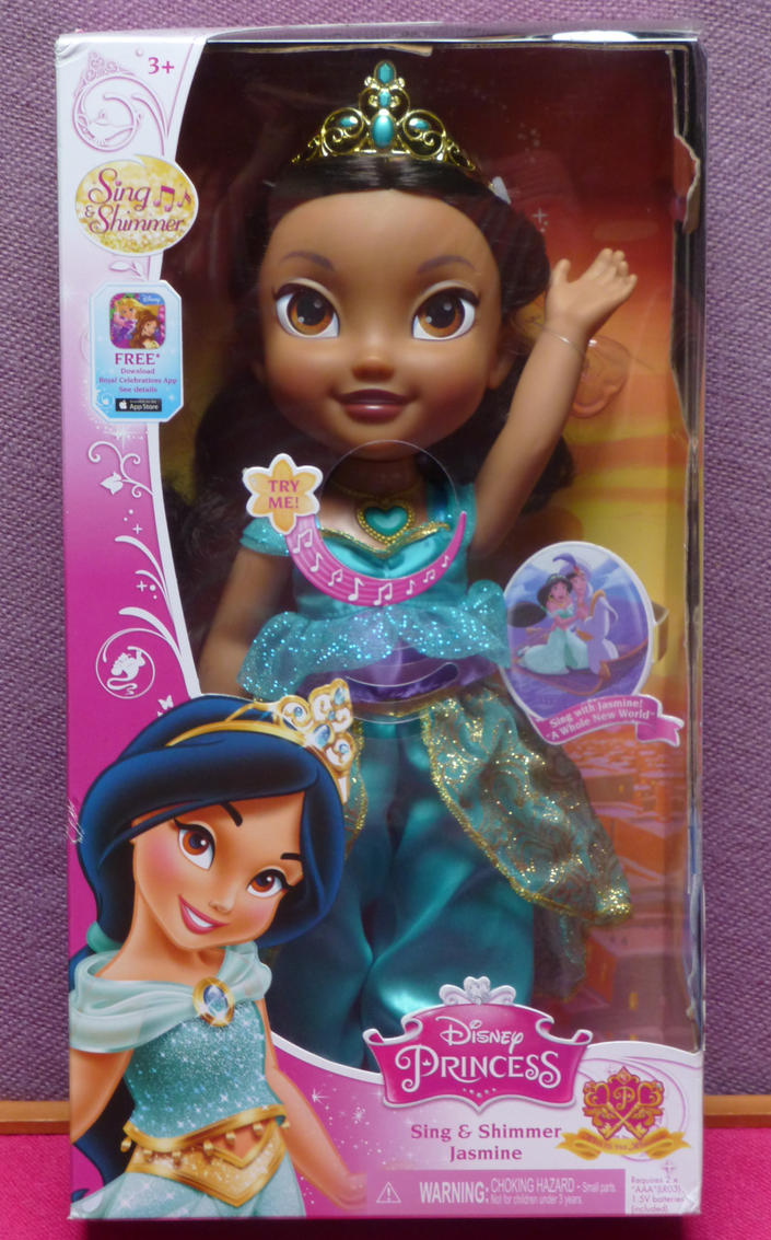 Shimmer and Sing  Princess Jasmine dolll NIB by SHANNON-CASSUL-LOVER