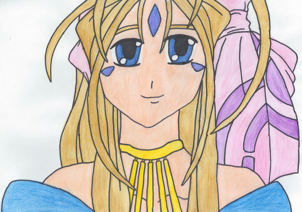 Belldandy Watercolour Portrait by SHANNON-CASSUL-LOVER