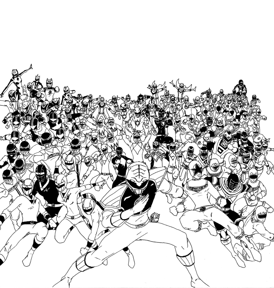 Badass pictures command center for Power ranger jungle fury coloring pages