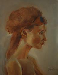 37. Fata din profil
