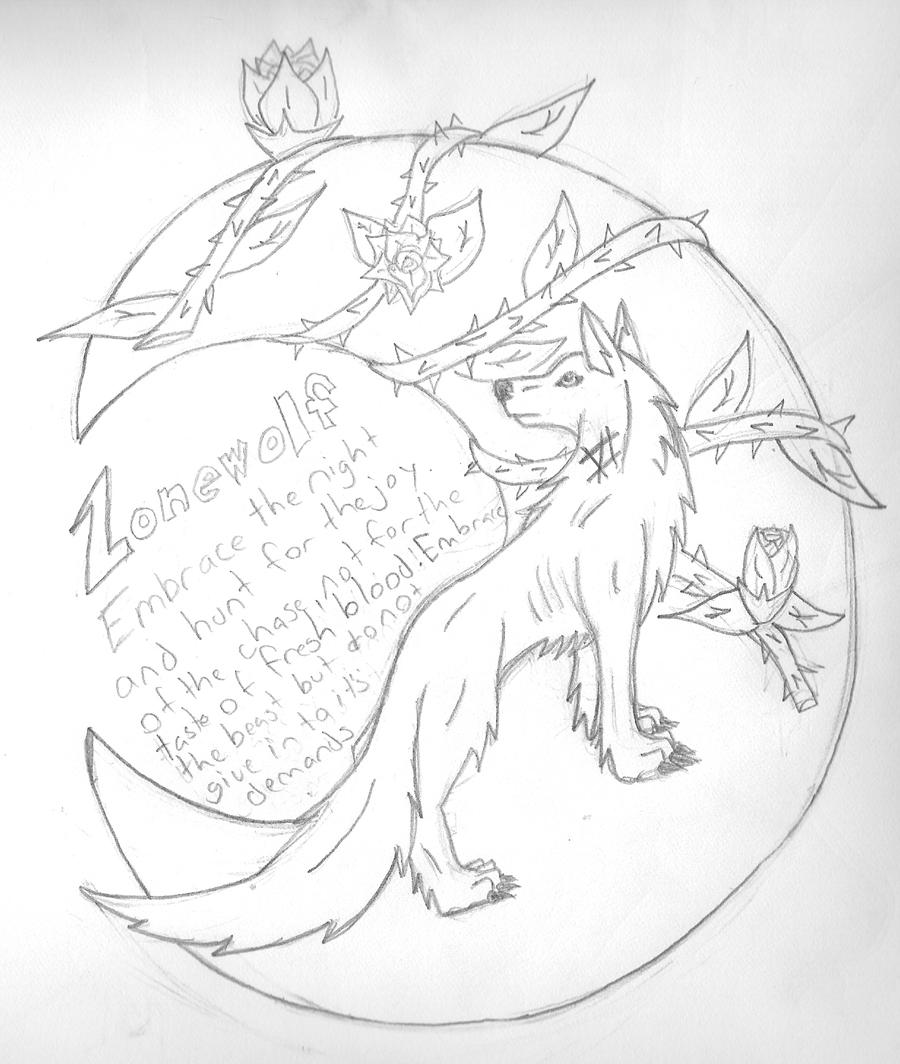 Wolf By Lonewolfruns Anthro Traditional Media Drawings A Design I