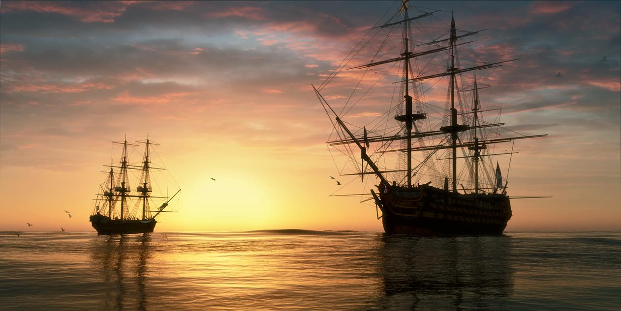 Mooring Sunset by Buzzzzz