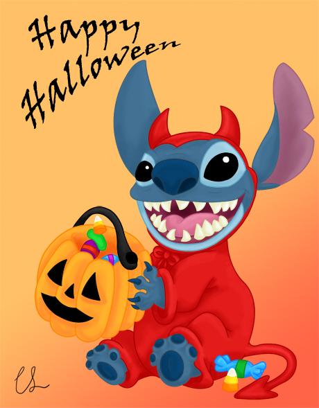 Happy Halloween Stitch By Lambini On Deviantart