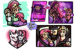 Kiraboss art dump with some Doppio and stands~