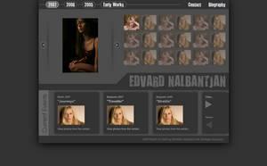 Edvard Nalbantjan Website by brankovukelic