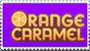 Orange Caramel Stamp.
