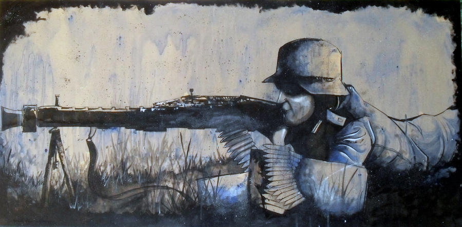 MG42 Gunner by SeanDietrich