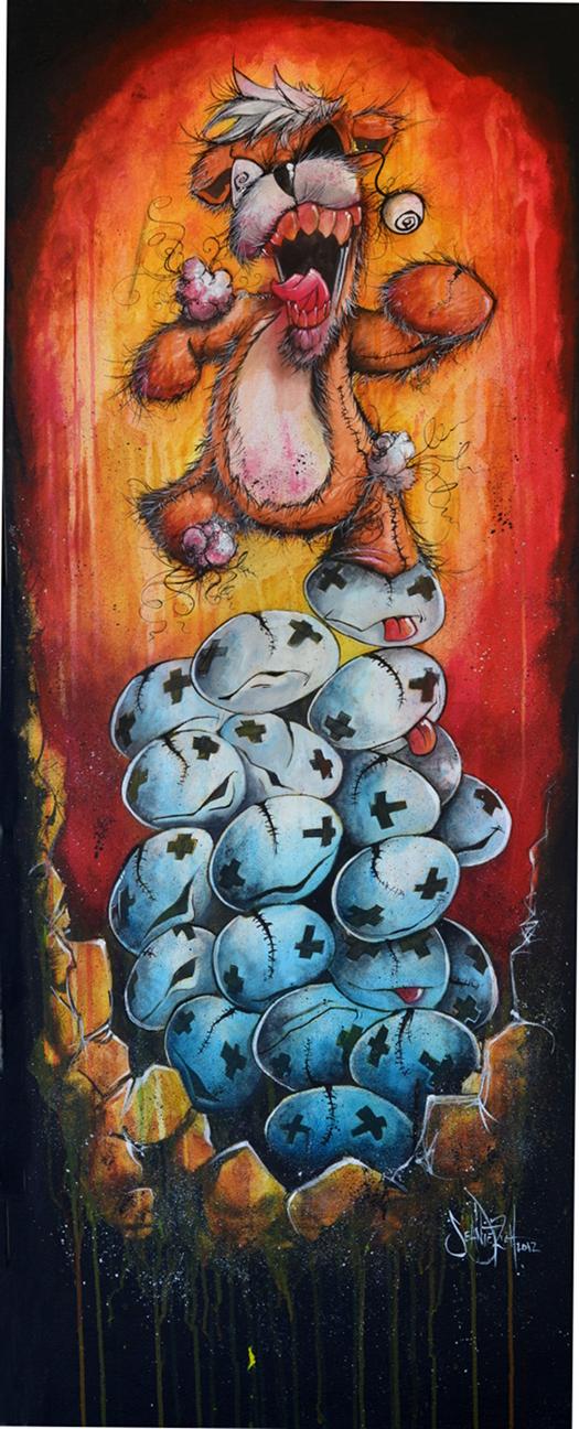 Zombie Teddy Bear by SeanDietrich