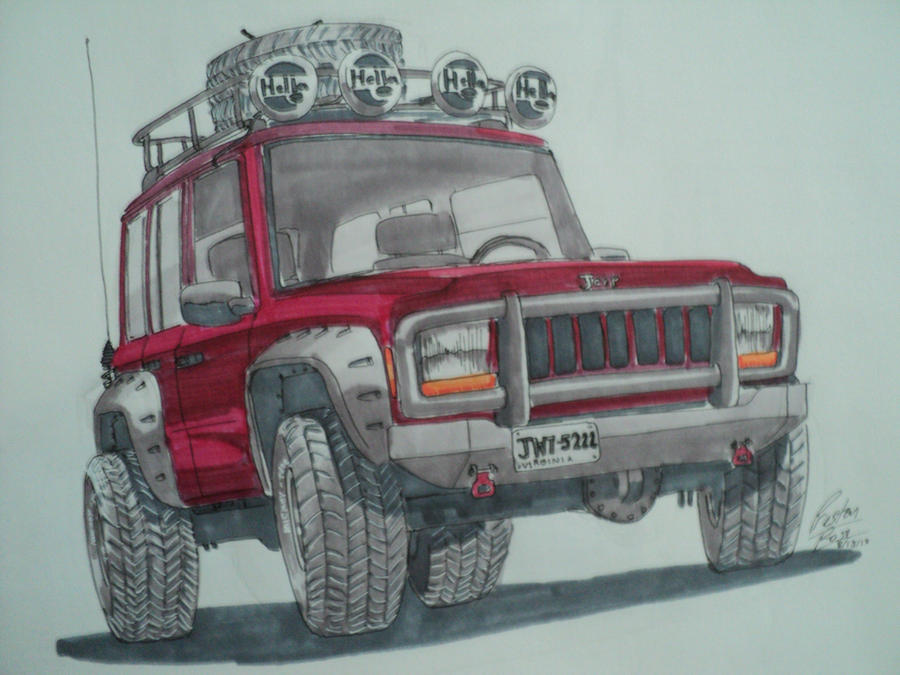 Awesome 2001 Jeep Cherokee Marker Drawing By Prestonthecarartist ...