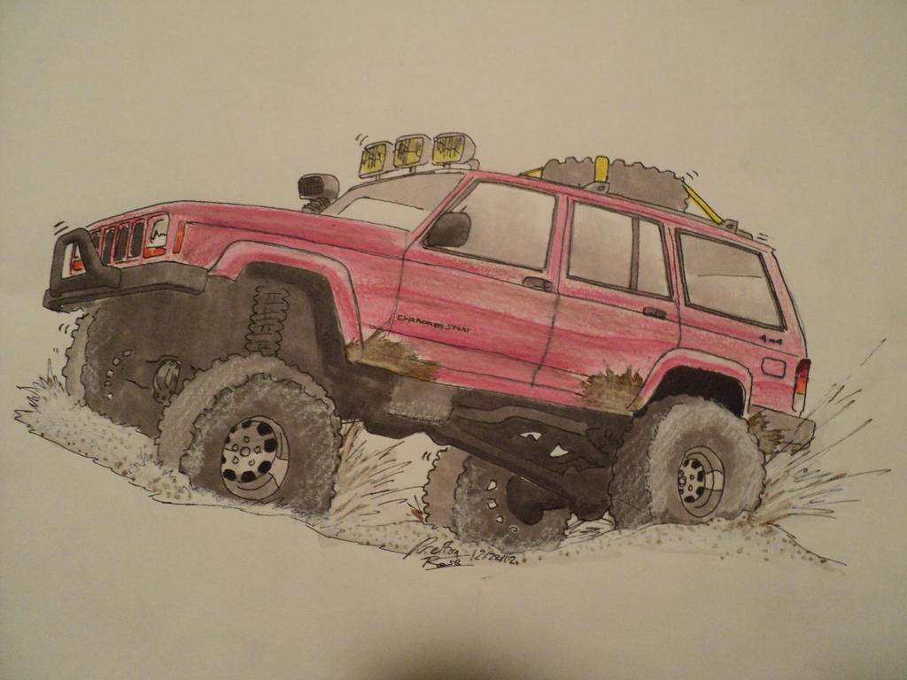 How To Draw Jeep Cherokee